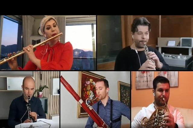 Kuinteti Frymor: DY SKICA (bazuar në temat e muzikës popullore shqiptare). Orkestroi Klodian Qafoku