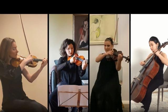 Kuarteti i Harqeve: MOJ E BUKURA ARBËRI. Muzika: Avni Mula, Orkestroi për kuartet harqesh: Klodian Qafoku